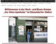 Bild Webseite Gaststätte Restaurant - Zur Alten Apotheke Düsseldorf