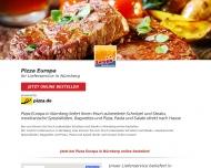 Bild Webseite Pizza Europa Pizzeria Nürnberg