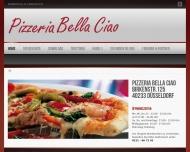 Bild Webseite Pizzeria Bella Ciao Düsseldorf