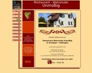Bild Webseite Gaststätte Restaurant - Weinstube Unmüßig Stuttgart