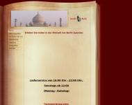 Bild Webseite Gandhi indisches Restaurant Berlin
