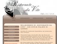 Bild Webseite Ristorante da Vito Leipzig