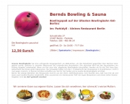 Bild Webseite Bernd's Bowlingbahn Parkidyll Kleines Restaurant Berlin