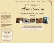 Bild Webseite Haus Scholzen Spirituosenkellerei Köln