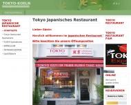 Bild Webseite Tokyo japanisches Restaurant Köln