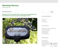 Bild Webseite Bacchus u. Weinstube Köln