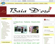 Bild Webseite La Baia Dóro Restaurant Restaurant/Gasstätte Köln