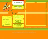 Bild Webseite Dino Pizza & Kurierdienst Nürnberg