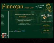 Bild Webseite Irish Pub Finnegan Lübeck