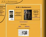 Bild Webseite Gaststätte Restaurant - B.W.'s Restaurant Köln