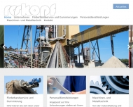 Bild Webseite Roskopf Vulkanisation Aachen