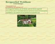 Bild Webseite Berggasthof Waldhaus Schopfheim