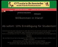 Bild Webseite O'Neill's Nürnberg