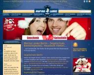 Bild Webseite Marina-Lanke Bistro Berlin