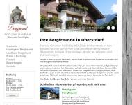 Hotel garni Bergfreund u. Landhaus Bergfreund in Oberstdorf im Allg