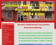 Bild Webseite Joisten, Franz Nachf. L. Wölfle Köln