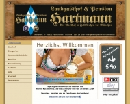 Website Landgasthof und Pension Hartmann