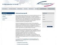 Website Fachschule für Technik Stralsund Berufsschulen