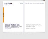 Bild Webseite Herzog Consultant HC Frankfurt