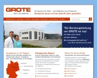 Bild Webseite Grote Industrie- und Hallenbau Magdeburg