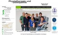 Website Physiotherapie und Osteopathie Praxis Ernst Weymann