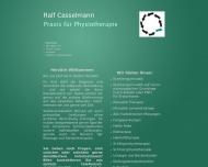 Bild Webseite Casselmann Ralf Krankengymnastikpraxis Postfeld
