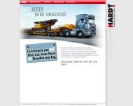Bild Webseite Hardt Baustoffe Handelsgesellschaft Berlin