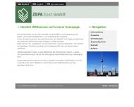 Bild Webseite Zellstoff und Papier Handelsgesellschaft Berlin