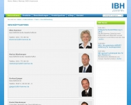 Bild Webseite IBH Ingenieurbüro und Handelsvertretung Hammer Berlin