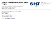 Bild Webseite PGH Sanitär- und Heizungstechnik e.G. Zinna