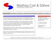 Bild Webseite Coir Helmut , Dieter san. Install. und Heizungsbau Aachen