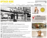 Website Optiker Bode