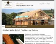 Holzbau Volker Ehrlich - Lohnabbund und Holzbauarbeiten in Th?ringen