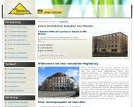 Bild Webseite Sens Immobilien Magdeburg