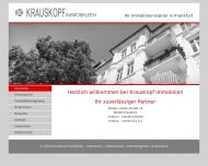 Bild Webseite Krauskopf G. Immob. RDM Frankfurt