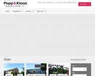 Bild Webseite Popp & Kloos Immobiliengesellschaft Köln
