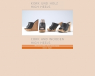 Cork and wooden high heels by Zoccoli.de