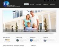 Bild Webseite TvR Exclusive Wohnimmobilien Köln