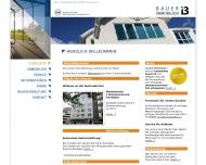 Bild Webseite BAUER IMMOBILIEN Düsseldorf