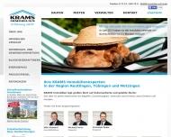Bild Webseite Krams Reutlingen