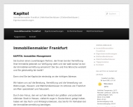 Website KAPITOL Immobilien Management