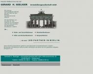 Bild Webseite Seeliger Gerard H. Immobiliengesellschaft Berlin