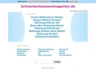 Bild Webseite Immobilien Schneckenhaus, Die Wohnagentur Bremen