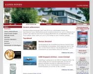 Bild Webseite Lloyd FONDS Gesellschaft für Schiffs- und Immobilienbeteiligungen Hamburg