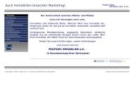 Bild Webseite Profides Immobilien Berlin