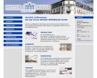 Bild Webseite Castle Immobiliengesellschaft Berlin