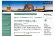 Bild Webseite Klug Immobilien Gesellschaft Berlin