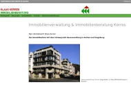 Bild Webseite Kerres Klaus Dipl.-Betriebswirt Immob.Beratung Aachen