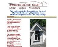 Bild Webseite Immobilienbüro Hübner Berlin