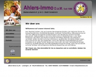Website Ahlers Immobilien Inh. Manfred E. Ahlers
